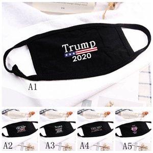 18styles Trump maschera di cotone Trump 2020 Maschere panno anti-polvere maschera Donne Uomini Unisex Moda inverno caldo maschere nere bandiera degli Stati Uniti GGA3546