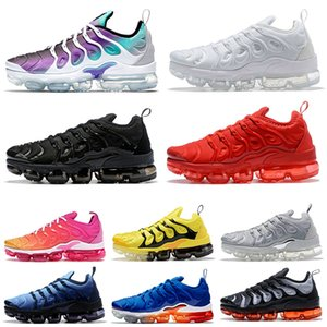 nike air vapormax tn plus off white 36-47 Recién llegado vm 2020 tns Designer Men Running Shoes Geometric Active Fuchsia Black USA Hyper Sneakers Womens Trainers Size 13