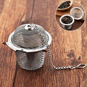 Tea Infuser Bag Stainless Steel Pot Infuser Sphere Mesh Strainer Handle Tea Ball Filter Herb Spice Diffuser Tea Tools