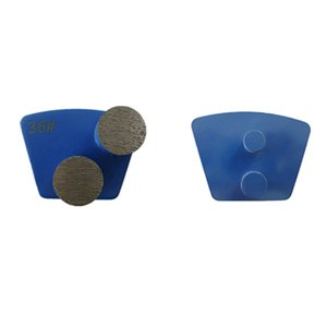 Double Round Segments Grinding Shoes Two Pins Redi Lock Diamond Grinding Pads for Rough Concrete Terrazzo Floor 12PCS