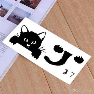 Interruptor linda del gato etiquetas engomadas de la pared Decoración Decoración Dormitorio Salón Interruptor engomada del PVC se dirigen la etiqueta Mural Fondos de Arte