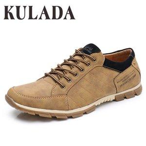 KULADA новейшая обувь мужская Повседневная обувь Мода мужчины легкие удобные мужчины шнуровка ручной работы обувь CX200622