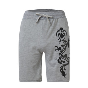 2019 nuovi uomini di stile di stampa del drago commercio estero vendita speciale uomini caldi di vendita eseguire pantaloncini moda volume