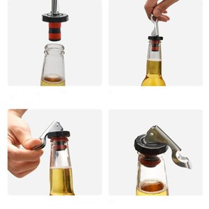 레드 와인 맥주 병 마개 크리 에이 티브 실리콘 와인 스토퍼 인감 누출 증명 플러그 조미료 인감 플러그 멀티 기능 병 뚜껑 오프너 WY72Q