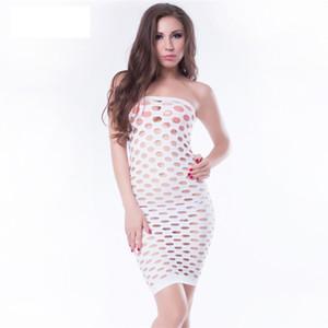 여성의 섹스 속옷 중공 아웃 메쉬 아기 인형 섹시한 란제리 핫 원활한 미니 드레스 Muply 에로 화이트 란제리 섹시 의상