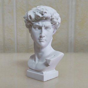 7cm high David head mini resin imitation plaster statue European style sculpture decoration hand sketch