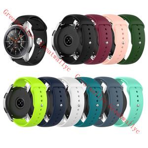 삼성 기어 S3 갤럭시 시계 활성이 화웨이 명예 매직 시계 2 샤오 미 시계 교체 밴드 스트랩을위한 18mm의 20mm에서 22mm 실리콘 손목 시계