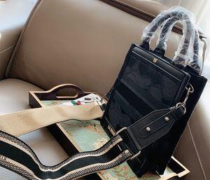 Saco de Compras bordado lona Mini livro bolsas de alta qualidade da bolsa da sacola mulheres sacos saco de ombro 2-2