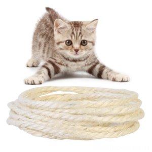 FUNTER 5M Sisal Rope Fors arranhando Post Brinquedos DIY placa do risco de gato para exercer Cat Claw Suprimentos Pet