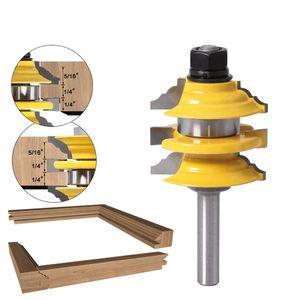1 pcs 8mm Shank Rail Stile Bit Router Ogee madeira empilhada ferramenta de corte pedaços de tratamento de madeira roteador