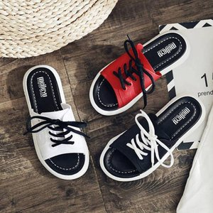 Factory sandals and slippers men and women summer wear fashion thick bottom non-slip couple summer 2020 new net red sports word drag