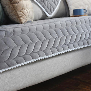 Thicken Plush Tecido Sofá Capa Lace antiderrapante assento Slipcover European Style Couch Tampa Sofá Toalha for Living Room Decor