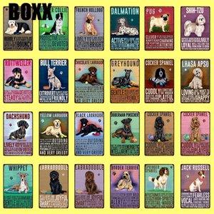 Pet Köpekler Pug Dachshund Border Collie Tazı Metal Giriş Posterler Vintage Duvar Custom Dekor Boyama sanat