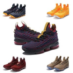 2020 Nuevos LeBrons cenizas fantasma floral Lebron 15 zapatos de baloncesto IGUALDAD Negro Blanco zapatos zapatilla de deporte para hombre 15s tamaño Santiago nos 7-12