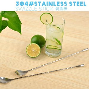 304 Stainless Steel Bar Spoon Bar Mixing Spoon Wine Mixing Stick Mixing Chang Shao Cold Drink Spoon Creative Household Daily Use