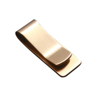 Men Dollar Holder Brass Money Clip Office Receipt Rack Clamp Organizer Gentle Man Pocket Wallet Lot Business Card Holder #B20