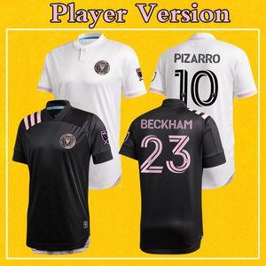 Versión jugador del Inter Miami MLS 2020 camiseta de fútbol blanca Inicio lejos camiseta de fútbol Negro BECKHAM entre Miami Más 10 piezas de envío libre de DHL