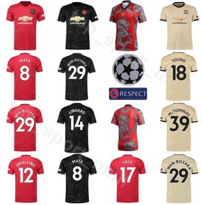 Manchester United Soccer 17 FRED Jersey Hombres 31 MATIC 29 Wan Bissaka 8 MATA 12 Smalling 7 ALEXIS 23 Kits camisa SHAW Fútbol