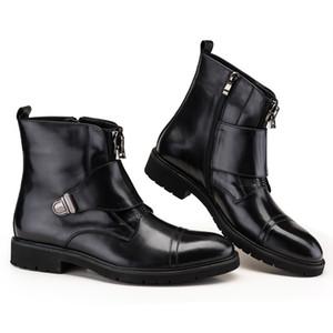 Trend Erkek Deri Çizme Erkekler Yuvarlak Toe Çalışma Mischpalette Kış Deri Çizme Mischpalette kaliteli ayakkabı