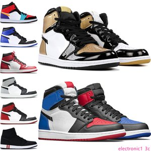 2020 New 1 High OG Bred Toe Chicago Banned Game Royal Basketball Shoes Men 1S Top 3 Shattered Backboard Shadow Homage To Home Sneakers 7-13