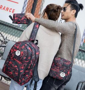 Hot sac d'ordinateur sac à dos Voyage camouflage sacs en plein air Oxford frein de chaîne moyenne sac étudiant école de couleurs Mix