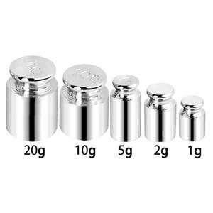 5pcs / set 1g 2g 5g 10g 20g haute prescription chromage placage gramme poids de calibrage défini poids pour balance numérique balance