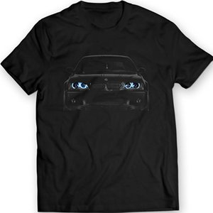 2020 New Cool Tee Shirt Germany Car E46 T-Shirt Blue Angel Eyes Headlights Black T Shirt Fashion Cotton T-shirt