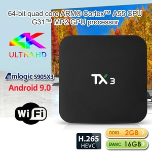 TX3 Amlogic S905X3 Android 9.0 TV Box 2 Go + 16 Go 2.4G WIFI Smart TV BOX Better Than X96 Mini Mini TX3 TX6