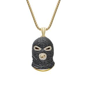 Neutro Hip Hop Style Street Art Pendente Collana Zircone rame Ornamenti gioielli di alta qualità Collana mascherata rapita