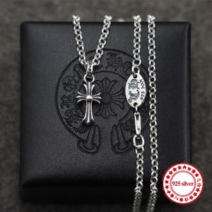 S925 Sterling Silber Anhänger Paar Anhänger Punk-Stil großzügige einfache wilde Kreuze Mode-Modellierung senden Liebhaber Geschenk