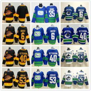 2020 Skate de vol 50th Vancouver Canucks Ice Hockey 40 Elias Petterson 6 Brock Boeser 53 Bo Horvat 33 Sedin 35 Thatcher Demko Jersey