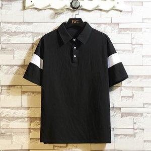 2020 Summer Short Sleeve Cotton BREATHABLE Polo Shirt Brand Clothes Men M-4XL 5XL ASIAN SIZE Classic Design T200527