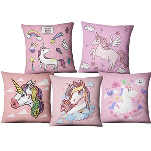 FoPcc Unicorn Taie DIY Party Licorne Décoration Linge de Maison Coussin Licorne Birthday Party Supplies