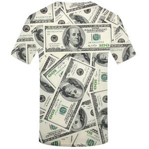 달러 T 셔츠 남성 돈 Tshirts 고딕 3D 재밌 T 셔츠 힙합 Tshirt 멋진 남성 의류 새로운 여름 가기