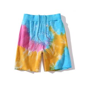 Bape Новое прибытие Мужская Стилист Короткие штаны Мода Мужские Gradient Повседневный шорты Камуфляж Бич штаны