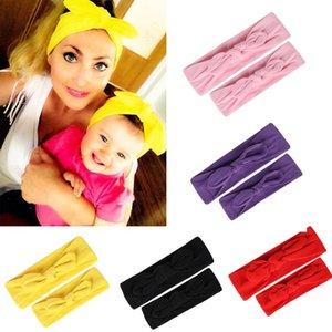 New Mom and Me Stirnband Häschen-Ohren-Bögen Stirnband Kopfbedeckung Turban Baby-und Mama Cotton Headwrap Baby-Haar-Zusätze