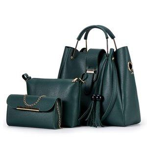 Bucket Bag Female 2020 Four Seasons New Korean Style Simple All-match Handbag Tassel Messenger Bag Female Fashion Mother Bag