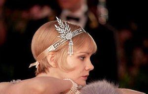Muhteşem Gatsby Is dekore aynı Saç Taç Gelin Takı Kadınlar İnci Saç Süsler Düğün Saç Takı