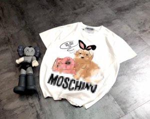Heiße Marken-Designer-T-Shirts Damen-T-Shirt der Männer Luxus kurzen Ärmeln Sommer Shirts Karikatur-Druck-T-Shirts der Frauen Fishion Street FFF 2040706H