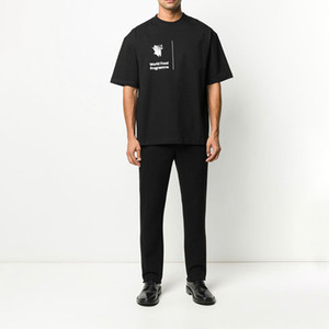 Erkekler Kadınlar Yüksek Kalite T Gömlek Ünlü Erkek Stilist Yaz Kısa Kollu Tees Erkek Pamuk T Gömlek Siyah Mavi