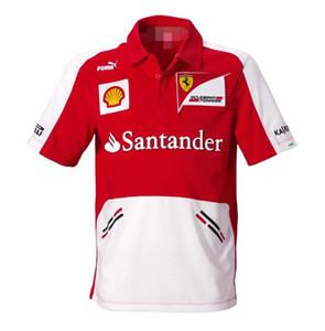 2020new F1 فيراري الملابس مروحة فريق الرجال فيراري الفنلندي كيمي رايكونن قصيرة الأكمام تي شيرت بدلة السباق
