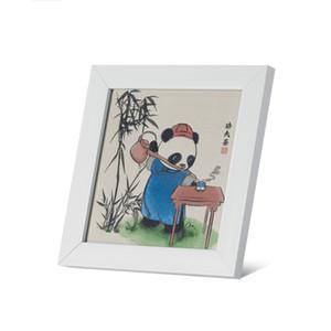 China luxury Brocade Panda gift Handmade Silk Ribbon Embroidery Kits Canvas Wall Art Home Decoration DIY Needlepoint Tapestry Hanging craft