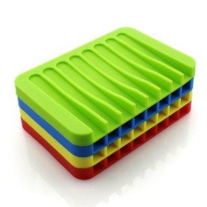 Nuovo anti-skid Soap Dish Holder sapone del silicone vano portaoggetti Soap Rack Piastra di sicurezza Bagno Doccia Contenitore Accessori bagno VT0601