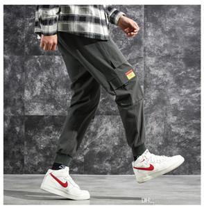 Fashion Designer Mens Cargo Pants Hip Pop Pencil Pants With Pockets Mens Loose Drawstring Printed Pants