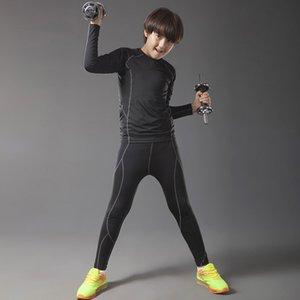 Kinder rashgard Kit 2 Stück Anzug Kinder Joggen Trainingskleidung Kompression Thermo-Unterwäsche Basisschicht Kinder