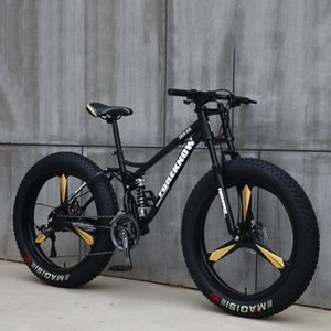 Fat Fahrrad 26 Zoll 21/24/27 Geschwindigkeit Off Road Beach Mountain Bike Adult Super-Breitreifen Männer und Frauen Radfahren Studenten