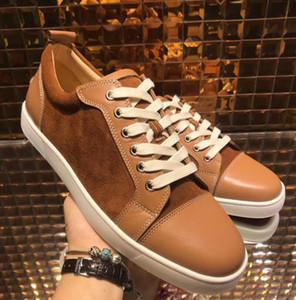 [박스 있음] 레드 하단 럭셔리 디자이너 스포츠 캐주얼 신발 낮은 남자 여자 운동화 콤비네이션 발바닥 Mens Womens desiger shoes
