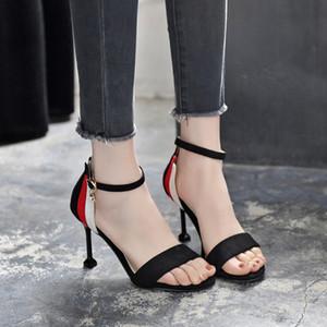 Una nuova estate 2018 sandali femminili gatto tallone formato 313233 corrispondenza dei colori bel tacco alto Dimensioni