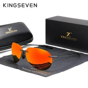 KINGSEVEN DESIGN Óculos De Sol Para Homens Óculos De Sol Polarizados para homens Lentes de Espelho UV400 Protection Oculos N7027