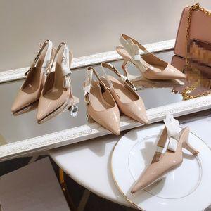 Christian Dior shoes Top Qualität 2019 Luxus Designer Stil Lackleder Thrill Heels Frauen einzigartige Buchstaben Sandalen Kleid Hochzeit Schuhe Sexy ks19042701